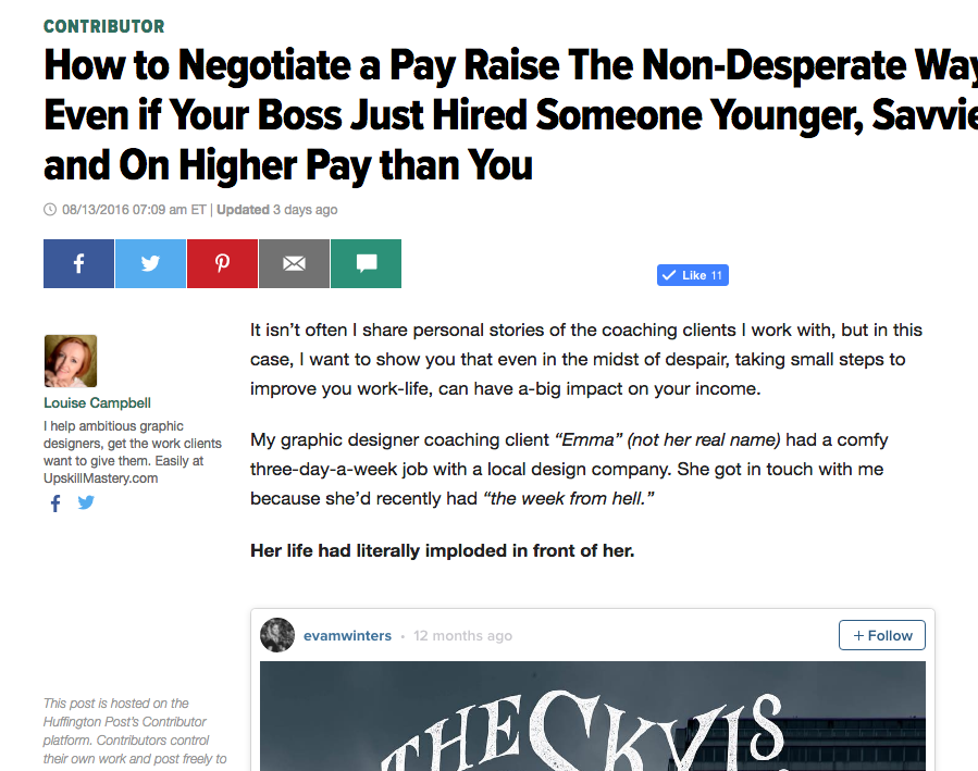 How to Negotiate a Pay Raise – Even if Your Boss Just Hired Someone Younger, Savvier and On Higher Pay than You